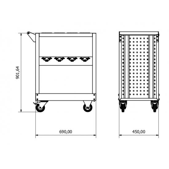 Mors Tutuculu taşıma arabası KRM.37.44.71