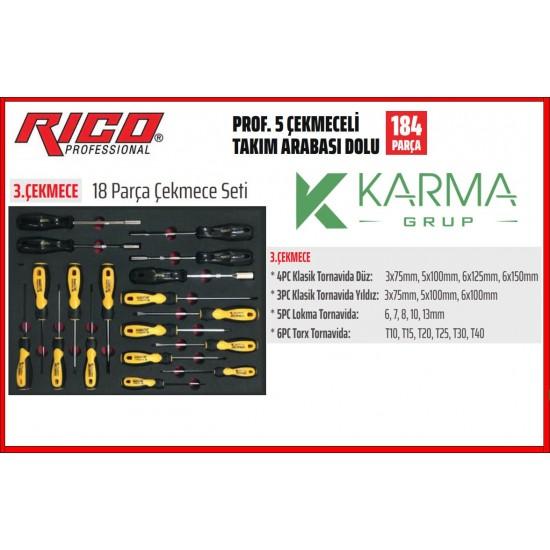 184 Parça Rico Orijinal takım arabası ve Orijinal takımları Eylül kampanyası
