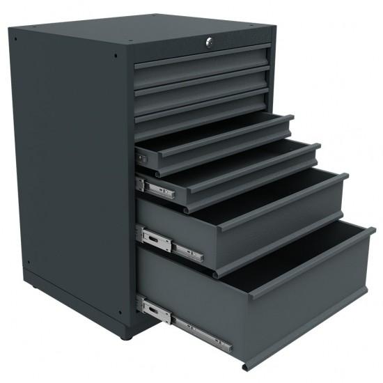 KRM 36.18.30.04 Çekmeceli Dolap (x7)  , çekmeceli. çekmeceli dolap , modüler , takım tezgahı , tezgah