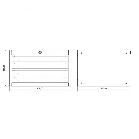 36.18.30.19 Çekmeceli Dolap (x4) , çekmeceli. çekmeceli dolap , modüler , takım tezgahı , tezgah , dolap , modül