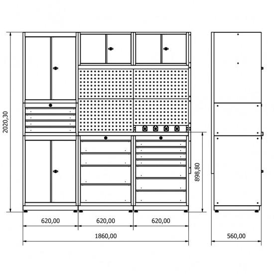 modüler çelik mobilya , tezgah , demonte